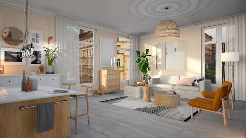 Warm blush living - Living room - by neta1