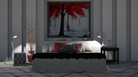 Red - Modern - Bedroom - by millerfam