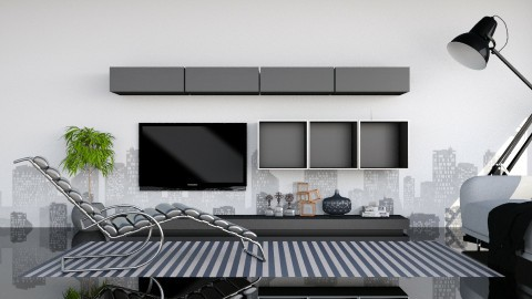 B_W - Living room - by meggle
