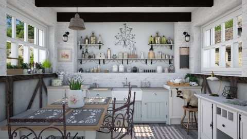 Country kitchen - Kitchen - by Lizzy0715