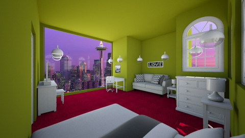 Sunny in Seattle - Bedroom - by Jrussell29