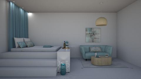Santorini - Minimal - Bedroom - by kattakarra