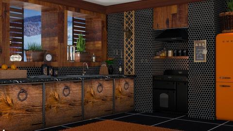 Dark wood kitchen - by sukica