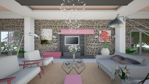 Pinky - Retro - Living room - by Saj Trinaest
