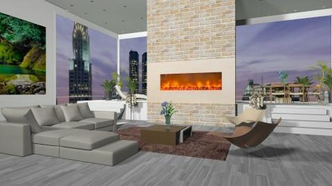 new york apartman - Minimal - Living room - by Cejovic Andrijana