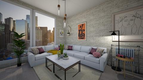 Playful Modern Living - Modern - Living room - by vctoriia