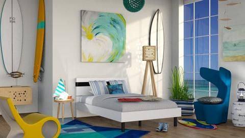 M_ Surf culture bedroom - Bedroom - by milyca8
