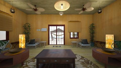 Beach Getaway - Living room - by WestVirginiaRebel
