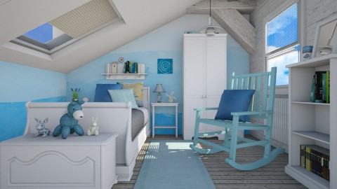 Blueish - Kids room - by sativah