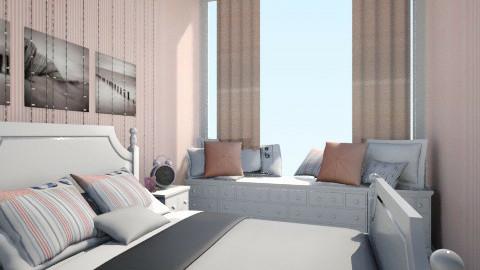 różowy klasyk - Bedroom - by monikatikitka