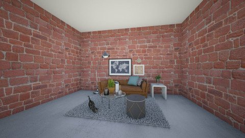 rustic lounge - Retro - Living room - by Brennahollis