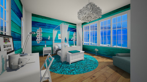 light blue - Glamour - Bedroom - by Angela Quintieri