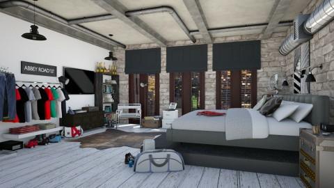 Loft Bedroom - Bedroom - by nikkisp