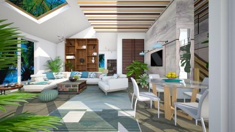 M_ Modern tropical room - Modern - Living room - by milyca8