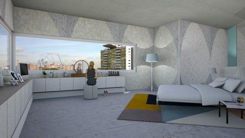IP Terrazzo bedroom - Modern - Bedroom - by kitty