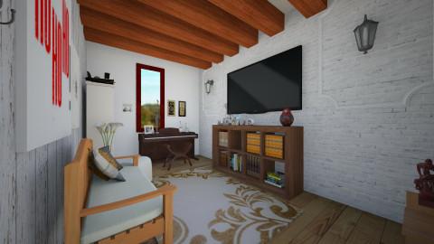 white n wood - Living room - by tiarask