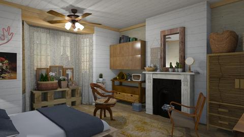 Woody world - Bedroom - by The quiet designer