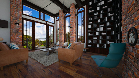 ParK loft View - Retro - Living room - by pachecosilv