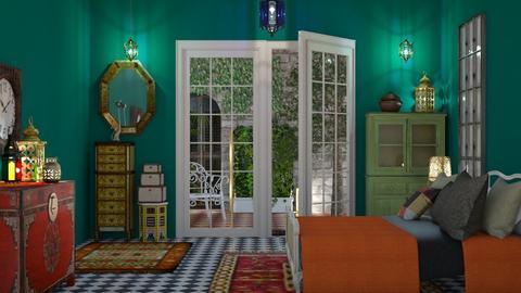 Green Room - Bedroom - by yonvie