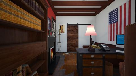Western Themed Office 2 - Office - by SammyJPili