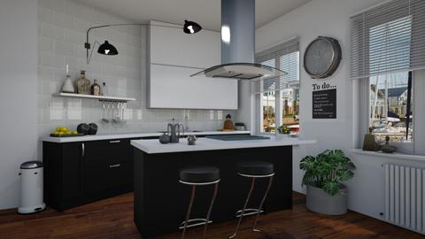 Black and white - Kitchen - by Tuitsi