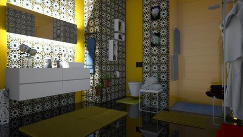 yellow bathroom - by snjeskasmjeska