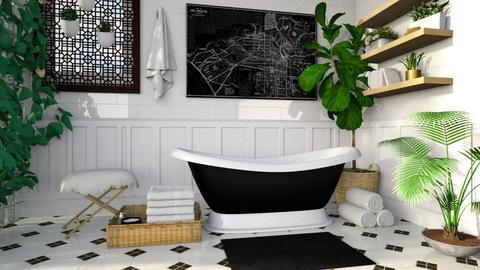Black and White Bathroom - Bathroom - by deleted_1533572626_Gabby Lovell