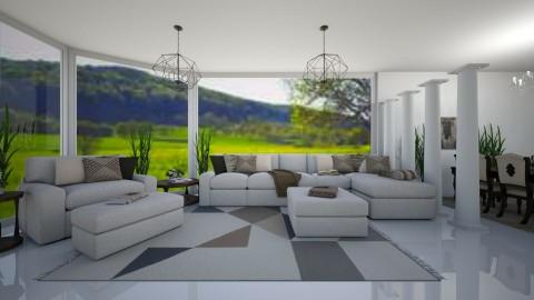 Neutral Living Room - Modern - Living room - by millerfam