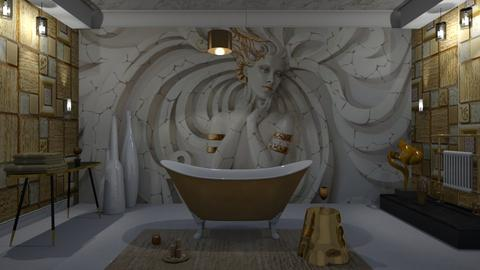 Swirls Medussa Bath - Bathroom - by Suebonstra