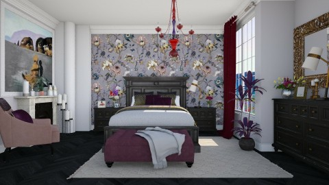 Blooms - Feminine - Bedroom - by janip