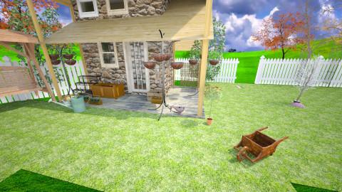 garden shed - by Karen Priest