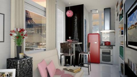 Paris Small Apartment - Minimal - by ayu DR