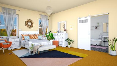Orange Carpet - Bedroom - by Vicesz