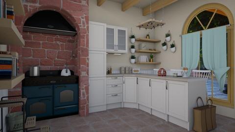 kitchen island - Vintage - Kitchen - by donella