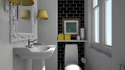 Toilet Noir - Classic - Bathroom - by Maria Esteves de Oliveira