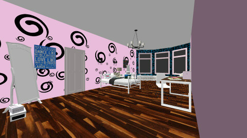 pink swirl  - Bedroom - by jennellevaughan