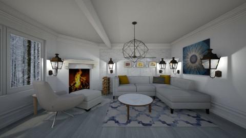 scandinavian living room - by Vladilena Kipriyanova