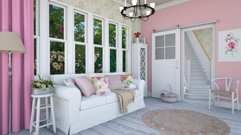Romantic - Vintage - Living room - by Laurika