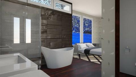 En Suite - Glamour - Bathroom - by yonvie