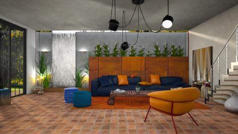Azul e laranja - Living room - by Alecio
