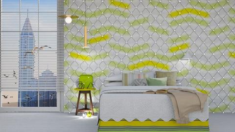 green and yellow - Bedroom - by chichi dz