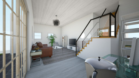 White and choclate - Living room - by joonatan