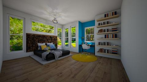 teen room in blue and yel - Classic - Bedroom - by JarvisLegg