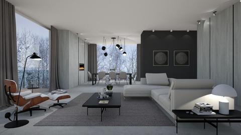 Grey Living room - by VALKHAN