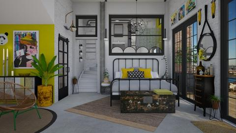 Industrial Chic - Eclectic - Bedroom - by Nicky West