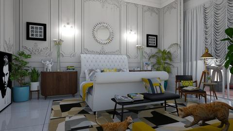 Mid Century Modern Bedroo - Bedroom - by matina1976