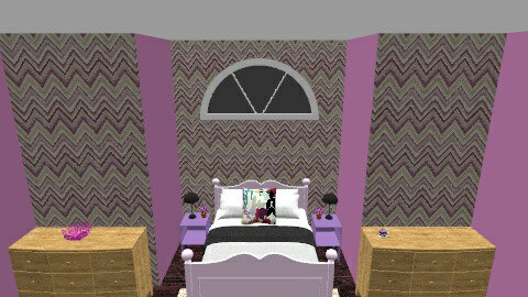 Purple Bed Room - Bedroom - by pie2296