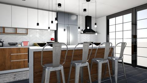 midcentury modern kitchen - Kitchen - by ccassidyyevvanns