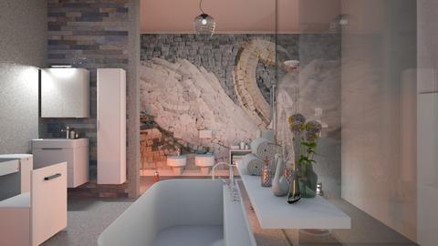 Swan_Mozaic - Bathroom - by ZuzanaDesign