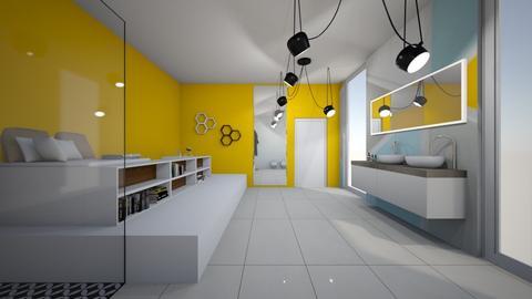 yellow bath - Bathroom - by czekoladkaaa123
